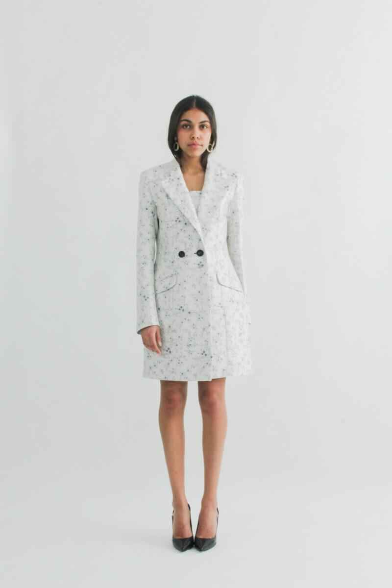 """Double breast Jacket "" "" robe veste croisée Two buttons Jacket dress"" Fashion Look"