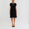 """Black shift Dress""cap sleeve""knee length"""