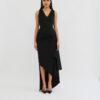 Susan V neck asymmetric dress