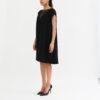 """vêtement de rechange"""" robe droite noire au genou"""""""