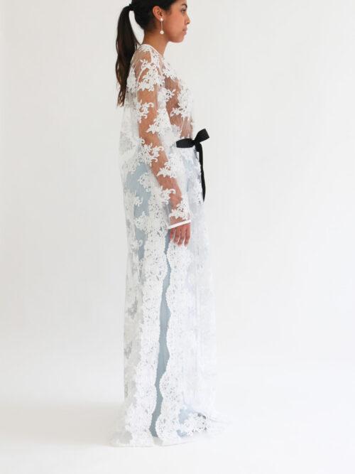 Lace kimono top
