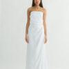 "Strapless wedding dress ""draped bustier "" draped skirt"""
