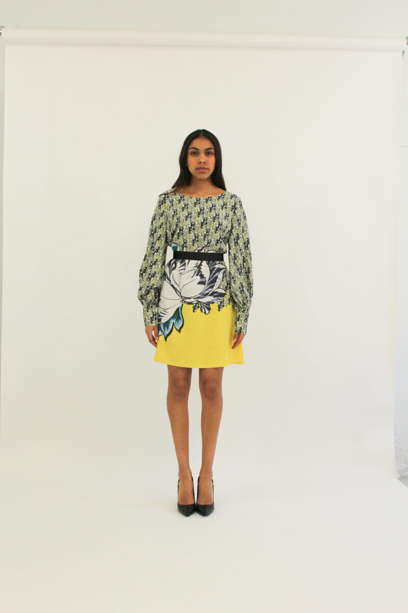 Marni print silk summer long sleeves