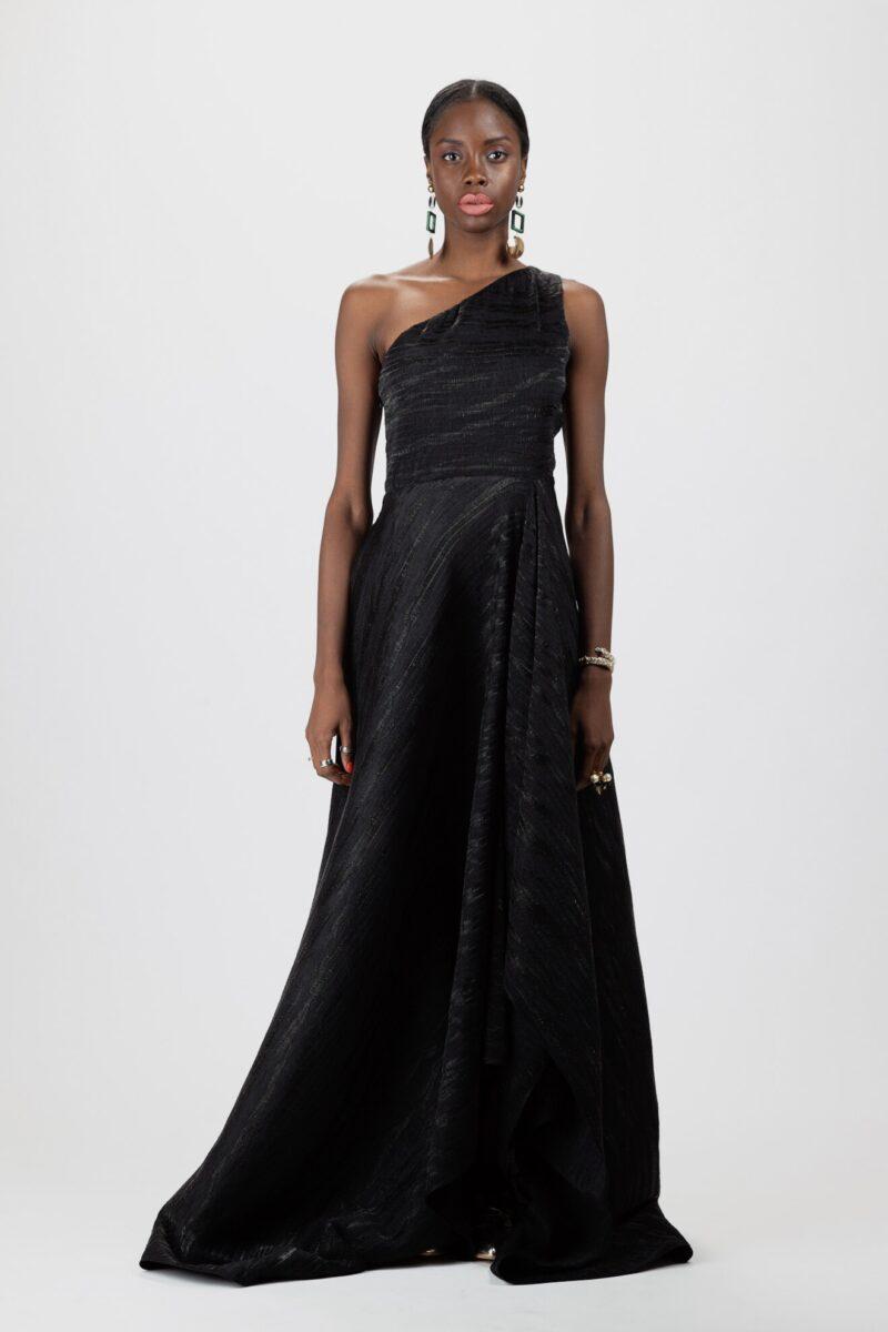 """""""Asymmetric draped gown"""""""
