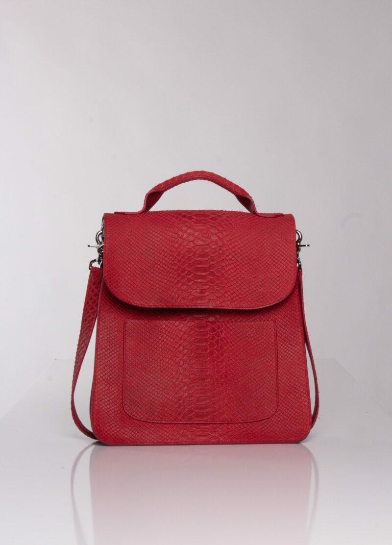 """Red leather cross bag"" ""cross bag"""
