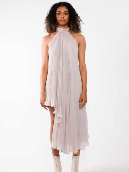 """Party dress"" asymmetric pleated chiffon cocktail dress"""