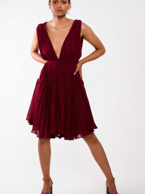 """Flirty flowy chiffon dress"