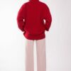 Turtleneck Wool Blend Sweater Red