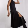 Scuba A-line midi dress