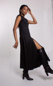 robe mi-longue en plongée