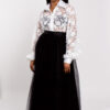 Lace shirt and tulle skirt