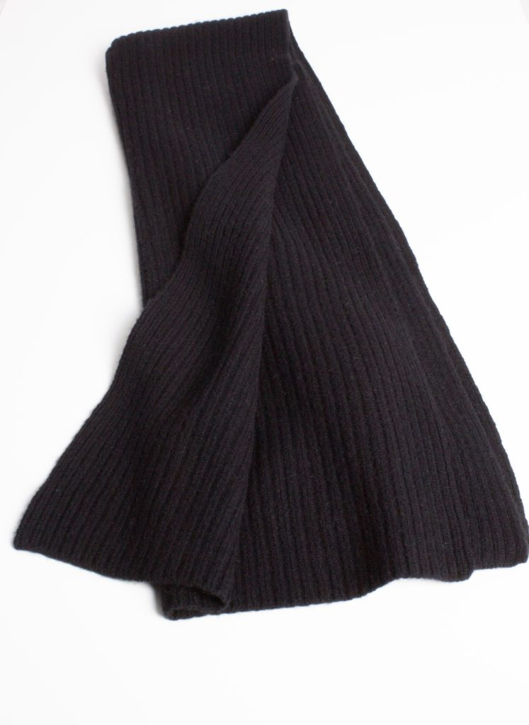 Cashmere and Wool Rib Scarf